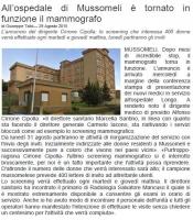 All'ospedale di Mussomeli è tornato in funzione il mammografo - Giornale di Sicilia 29-8-15.JPG